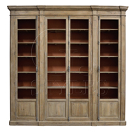 Showcase Cabinet W/ Burnt Sienna Backing