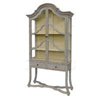 Arched Cabinet In Distressed Light Blue