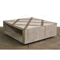 Square Coffee Table With Diamond Pattern