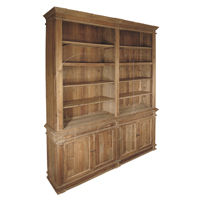 DOUBLE BOOKCASE IN PINE