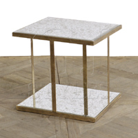 Roubaix Antique Mirrored Side Table