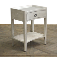 Roanne Glass Tray Top Side Table White