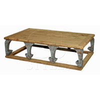 Rustic Pine Ogee Leg Coffee Table
