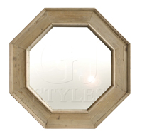 Old Pine Natural Octagonal Mirror