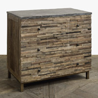 Rectangle Block Elm Chest