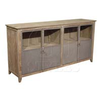Old Pine Sideboard In Washed Finish