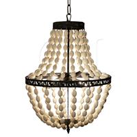 empire wooden bead chandelier small - Wood Bead Chandelier
