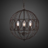 Orbe Lantern Small In Antiqued Iron
