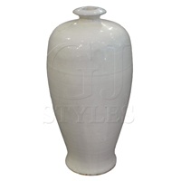 White Porcelain Tall Jar