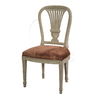 Erica Side Chair W Crushed Velvet Seat