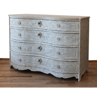 Lori Four Drawer Chest In French Blue