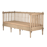 Gustavian Slat Back Bench
