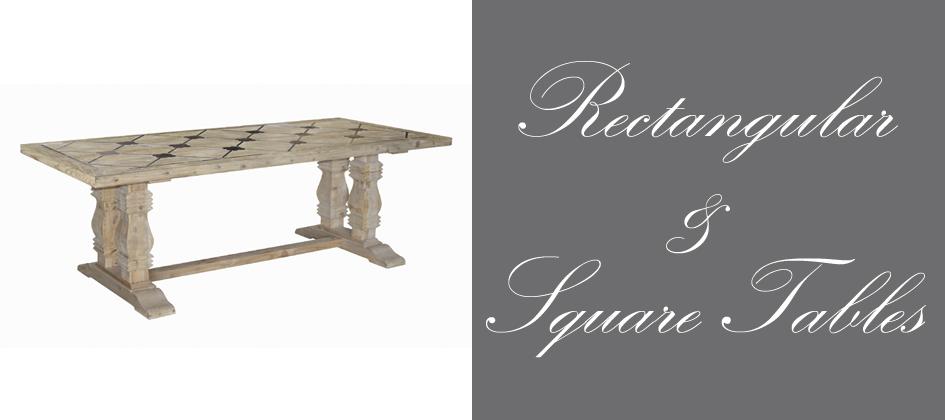 Rectangular U0026 Square Tables