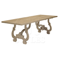 GJ STYLES Rectangular  Square Dining Tables - Reclaimed pine dining table